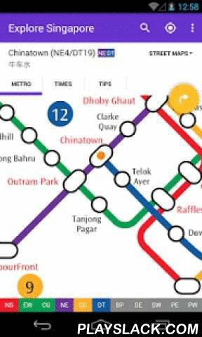 Explore Singapore MRT Map  Android App - playslack.com ,  Singapore's best MRT and LRT map! Up-to-date with all the metro lines for 2016; Works offline; Routeplanner, GPS, Google Maps; English and Chinese included.WHY EXPLOREMETRO?1. Fully up-to-date for 2016Accurate metro map, includes every station on every line. Free updates for future station openings and timetable changes.2. Designed for AndroidSupports all devices running Android 2.3 or higher. Designed to use the latest Android…