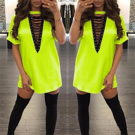 Roupa para festa neon vestido curto