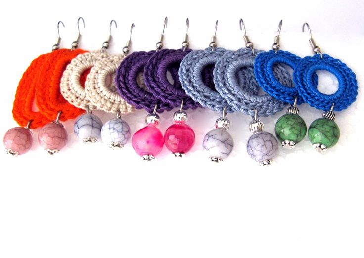 Modern Beaded Crochet Earrings  https://www.etsy.com/listing/129358099/orecchini-celesti-ad-uncinetto-con?ref=shop_home_active