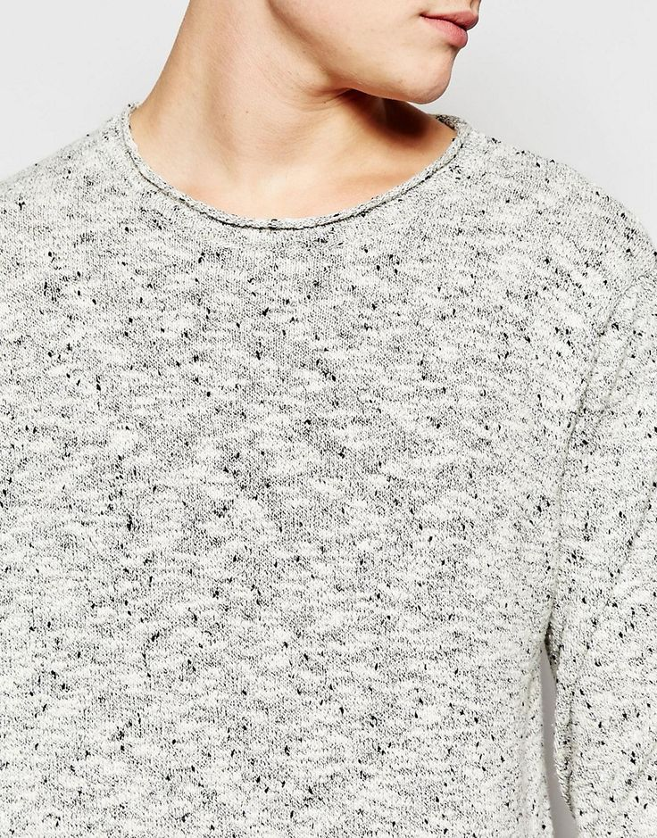 Image 3 ofBellfield Knitted Jumper in Grey Melange