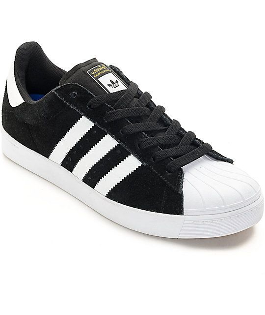 WOULD NEED A 5.5/6   Bring your shoe game back to life with the revived classic adidas Superstar Vulc ADV skate shoes. It doesn't get much more iconic than the white molded rubber shell toe on the black suede low-profile upper equipped with a super comfortable molded EVA foot