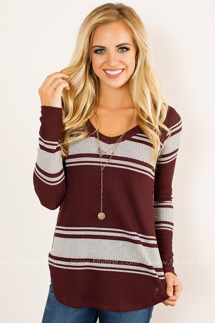 Add some fall color with this beautiful long sleeve top that goes great with a pair of your favorite jeans or leggings!