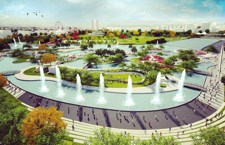 BATIKENT KENT MERKEZİ PARKI - #landscape #urbanpark #peyzaj #kentparki #bems #studiobems #kentseltasarim #urbanism #green #garden #batıkent