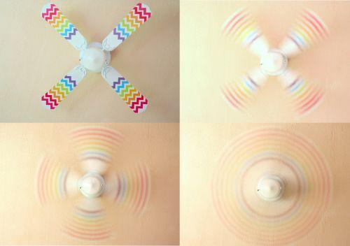 Chevron Rainbow Fan : The Crafty Mama Brilliant idea!
