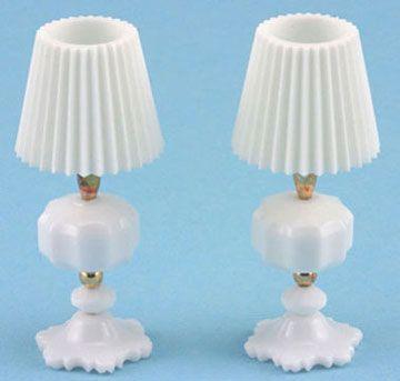 WHITE TABLE LAMPS - beads and toothpaste caps Lampada con perline e tappo dentifricio