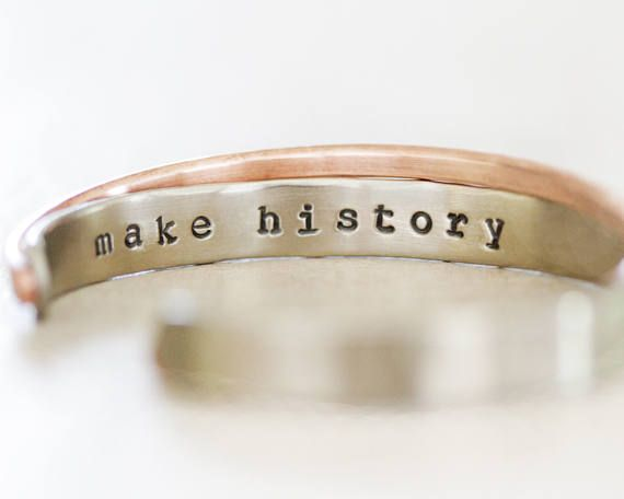 Graduation Gift For Her / Inspirational Gift / Inspirational Jewelry / Personalized Gift / Silver Gold Cuffs / Well Behaved Women / Hammered by amywaltz #TrendingEtsy