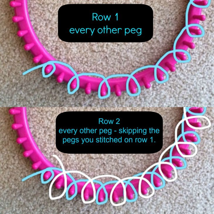 Loom Knitting For Beginners : Best images about loom knitting patterns on pinterest