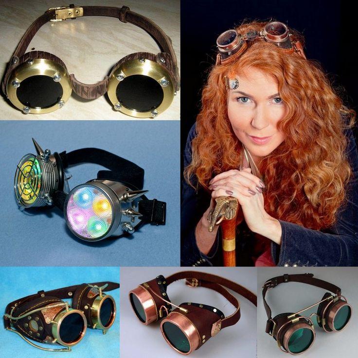 Альтернативная мода: очки гогглы и стимпанк сочетаем с одеждой массмаркет