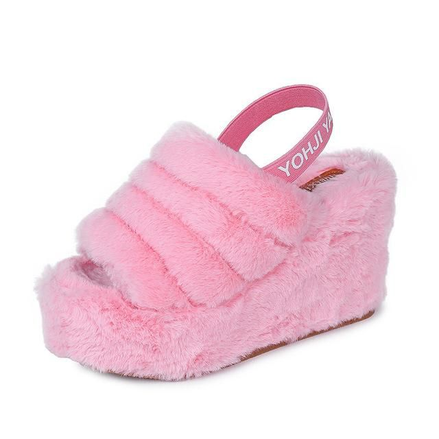 e7b39169f Cute Sissy Plush Slippers