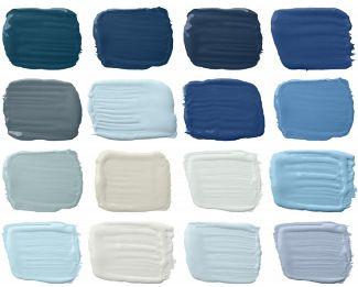 Een muur de kleur #blauw geven? Welke #blauwtint vindt u het mooist?