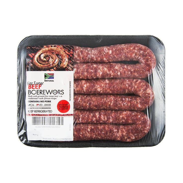 Free Range Beef Boerewors Avg 500g