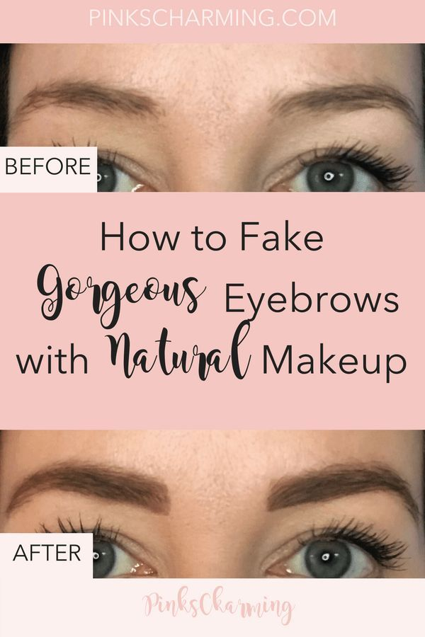How To Fake Fuller Eyebrows With Natural Make Up Makeup Advice