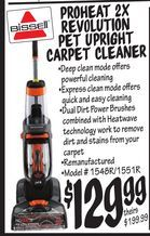 Bissell® Proheat 2X Revolution Pet Upright Carpet Cleaner from Ollie's Bargain Outlet $129.99
