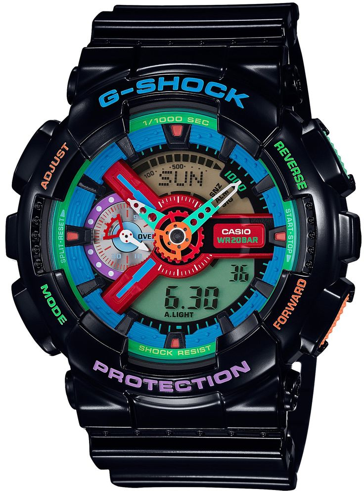 CASIO G-SHOCK Crazy Colors GA-110MC-1AJF Mens Japan Import. World time. Band material:Resin.