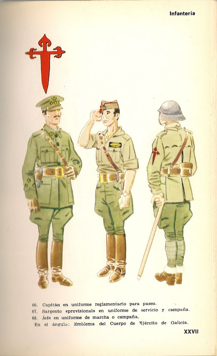 217 best spanish civil war images on pinterest civil wars captin in regulation walking out dress provisional sergeant in service campaign dress jefe in march or campaign dress on his arm is the emblem of biocorpaavc Choice Image