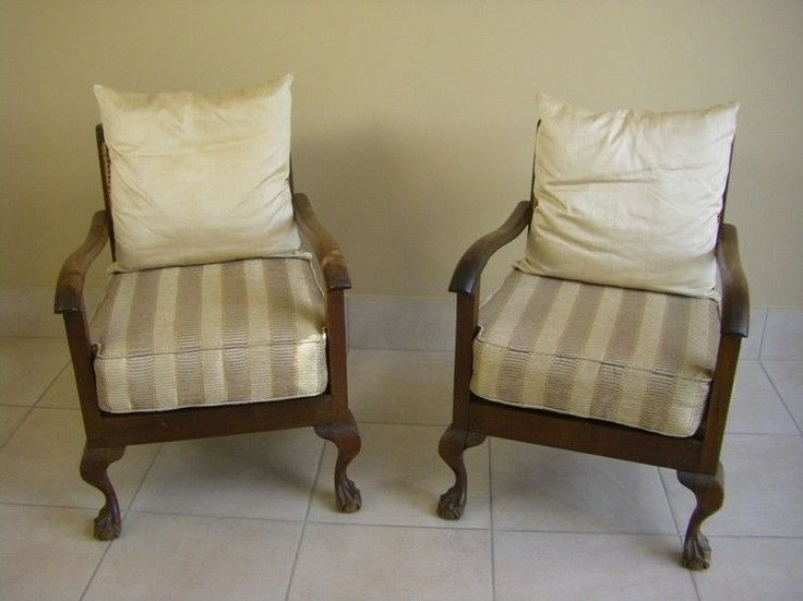 Vintage Imbuia Ball and Claw Chairs