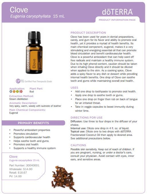 doterra tea tree   uses | doTERRA Clove Bud Essential Oil 15 ml - My Natural Family