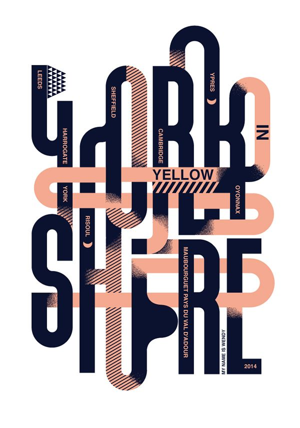 Yorkshire in Yellow / Sheffield Design Week by Studio My Name is Wendy, via Behance