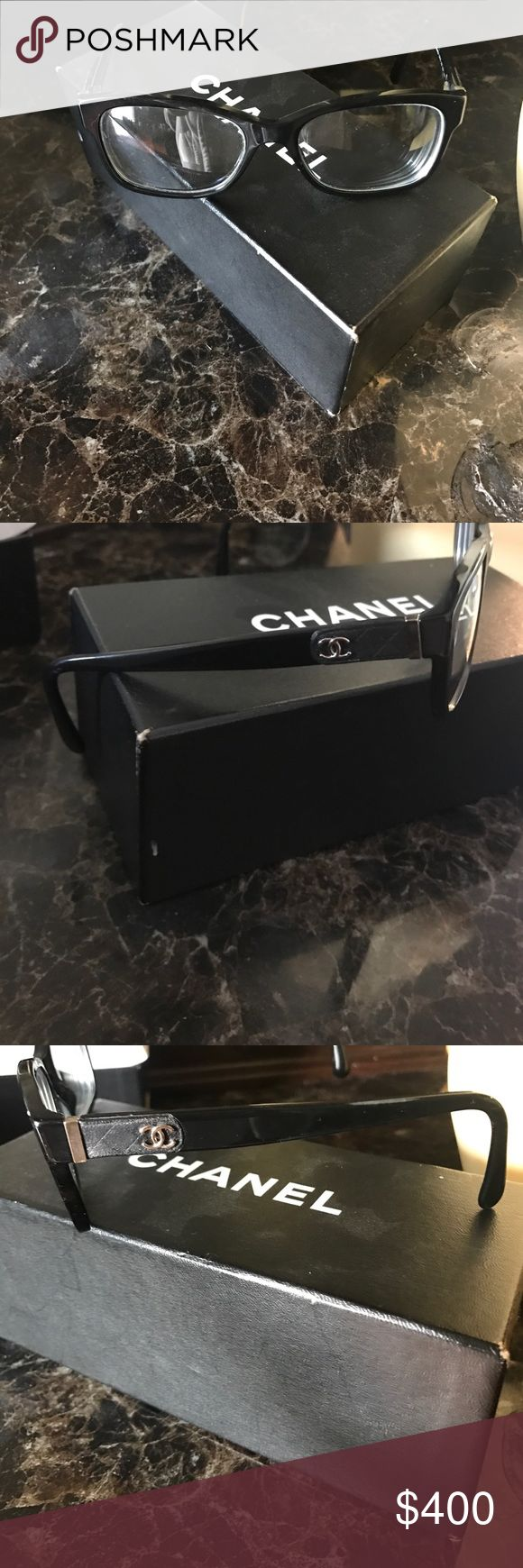 Real Chanel prescription eyeglasses Real prescription Chanel eyeglasses worn only a couple times originally 550 with box and case CHANEL Accessories Glasses
