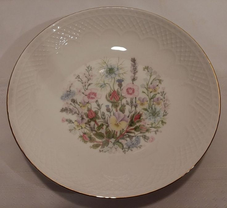 "Aynsley Wild Tudor Fine Bone China Bowl 9 1/4"" With Gold Trim #Ansley #ElegantDinnerware"