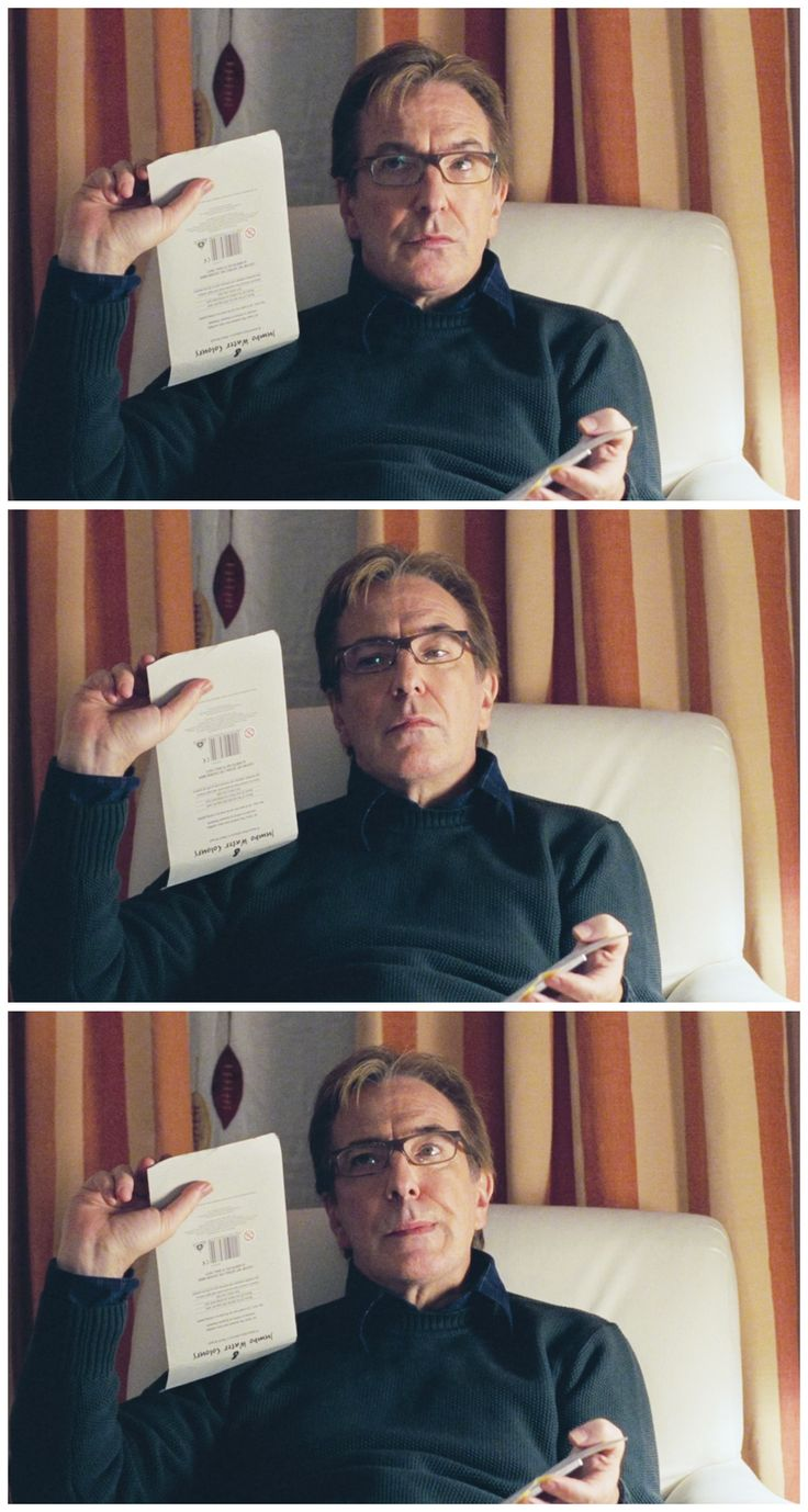 "2003 - Alan Rickman as Harry in ""Love Actually."""