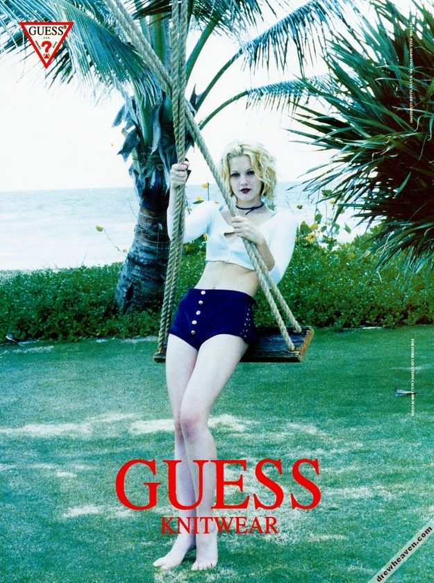I had every one of these ads on my wall in the 90's !(20 Awesome Photos From Drew Barrymore's Guess Campaign)