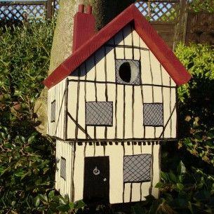 Handmade Tudor House Bird Box