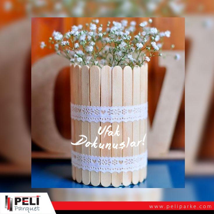 Dondurma çubuklarından yapabileceğiniz ufak saksılar evinize renk katacak.. #DIY #do #it #yourself