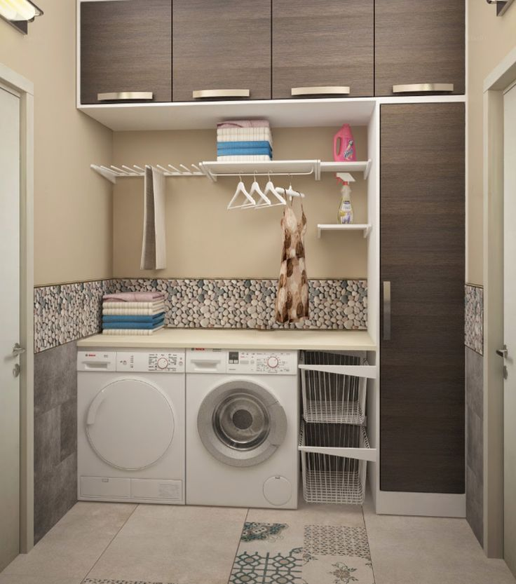 Fliesen an Wand und am Boden in der Waschkche  Keller
