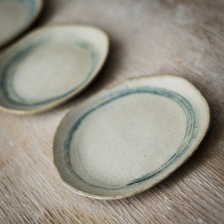 Ceramic Salad Plate with Circles in Blue - gosh aren't these lovely?!