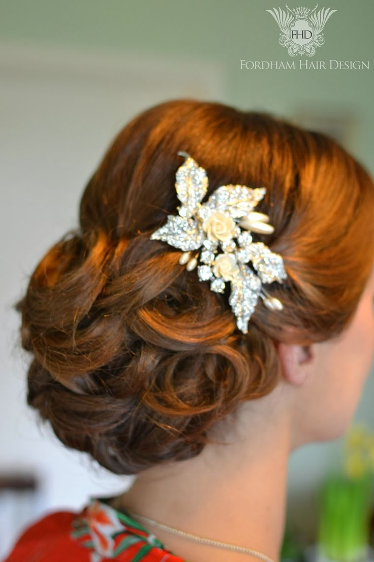 Wedding hair styling by fordham hair design gloucestershire vintage wedding hair with fingerwaves
