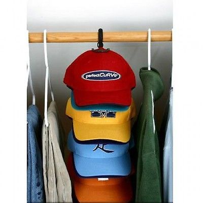 CapRack System, 18-Caps, Holds/Displays Baseball Caps, Perfect Curve, New