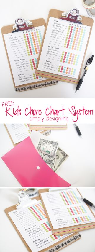 I am sharing my simple and functional free kids chore chart printable plus my system for keeping my kids on track and on task! sponsored by @officedepot #gearlove