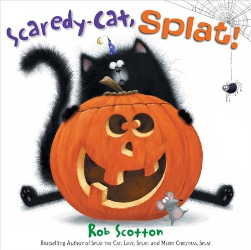 It's Halloween, and Splat is determined to be the scariest cat in the class. Unfortunately he's just too much of a scaredy-cat. He's afraid of a little spider, and everyone says his costume looks more