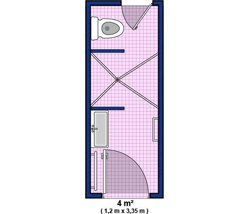 Die besten 25+ Salle de bain 4m2 Ideen auf Pinterest   Dimension ...