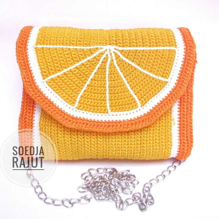 Orange inspired sling bag crochet for your daily activity