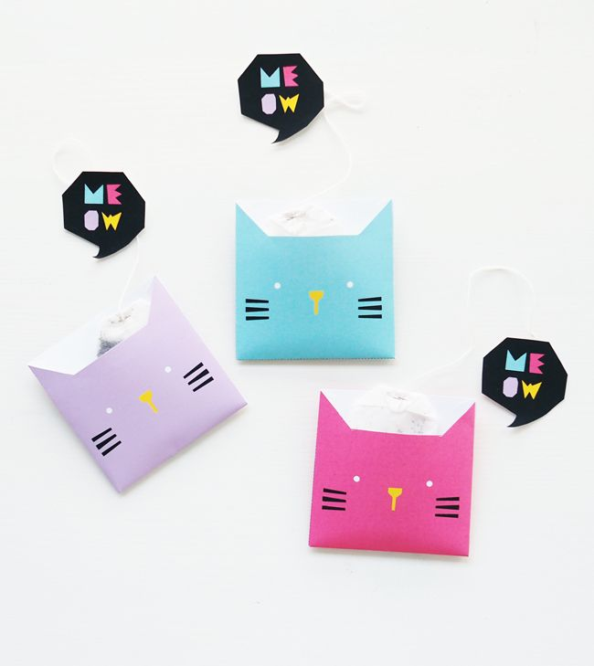 FREE Printable Kitty Teabag Wrapper | DESIGN IS YAY!
