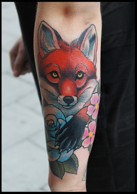 fox tattoo by little prince, east street tattoo, stockholm, sweden #fox