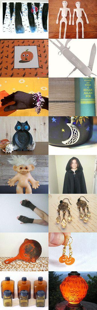 BooooooooooS on the Halloween  VERANDA by Cathy Grace and  Ping on Etsy--Pinned with TreasuryPin.com