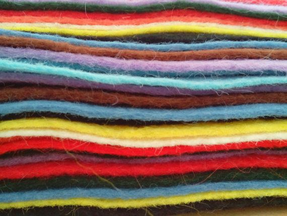 Check out this item in my Etsy shop https://www.etsy.com/uk/listing/198296925/10-x-wool-blend-felt-craft-squares-10-x