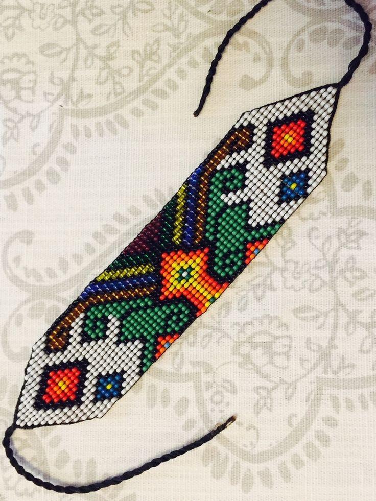 Tribal Warrior Glass Seed Bead Bracelet