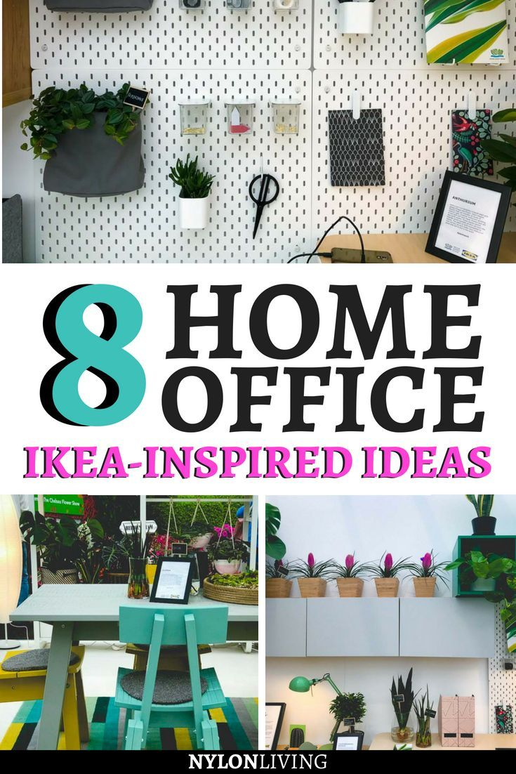 Ikea-inspired creative home office decorating ideas on a ...