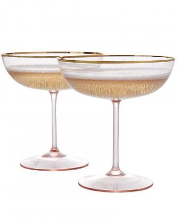 """Rosy-cheeked"" coupes - my favorite style of glasses. So charming."