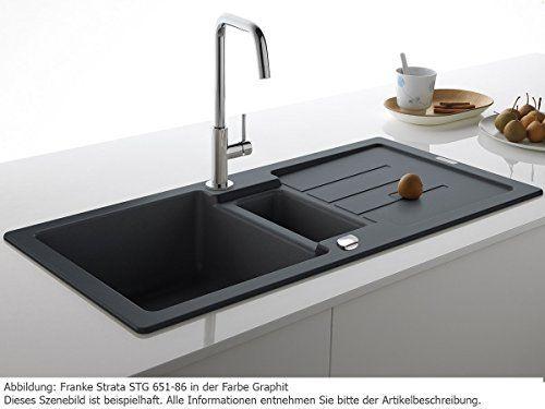 Franke Strata STG 651-86 Glacier Weiß Granit-Spültisch Spülbecken Küchen-Spüle