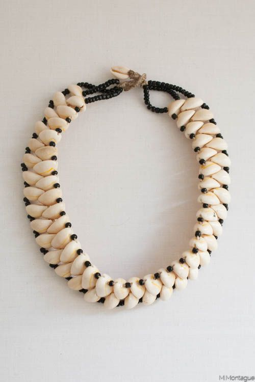 Cowrie shell necklace in different pattern than you usually see. The Souk by M.Montague Moroccan necklace 5005 (3).jpg