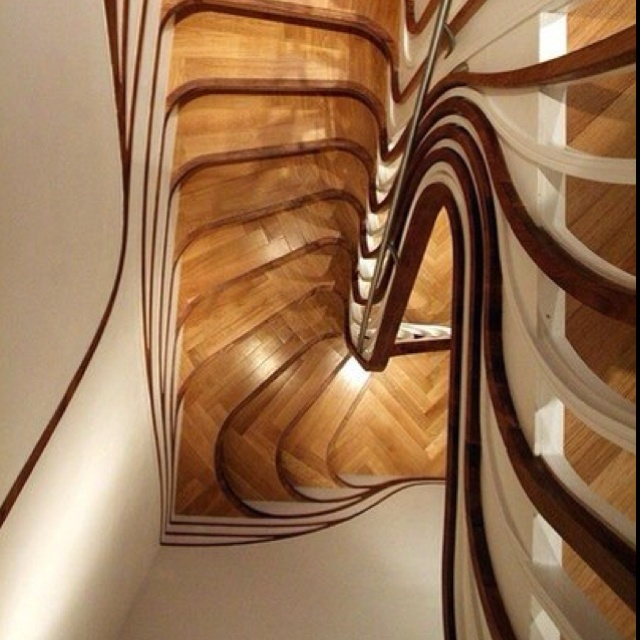 Amazing London Architect Alex Haw Of Atmos Studio Designed This Sculptural Wooden  Staircase Art Nouveau Style. The Organic Lines Makes This Stair An. Great Pictures