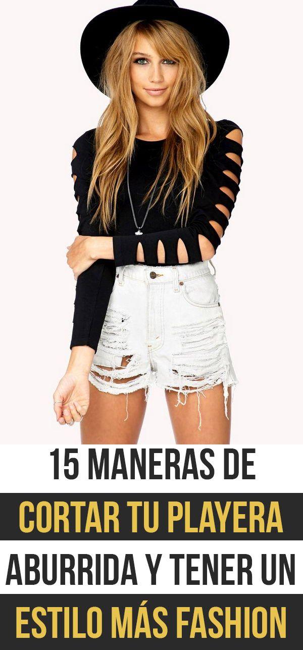 15 Maneras De Cortar Tu Playera Aburrida Y Tener Un Estilo Más Fashion