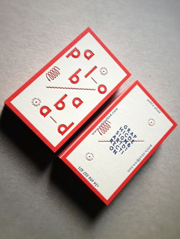 New Visual Identity_01 Business Cards by PABLO ABAD, via Behance