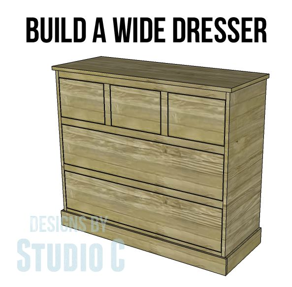 Use These Wide Chest of Drawers Plans to Create Extra Storage Where It's Needed Most! I've previously shared plans for the Tall Chestand here are the matching wide chest of drawers pla…