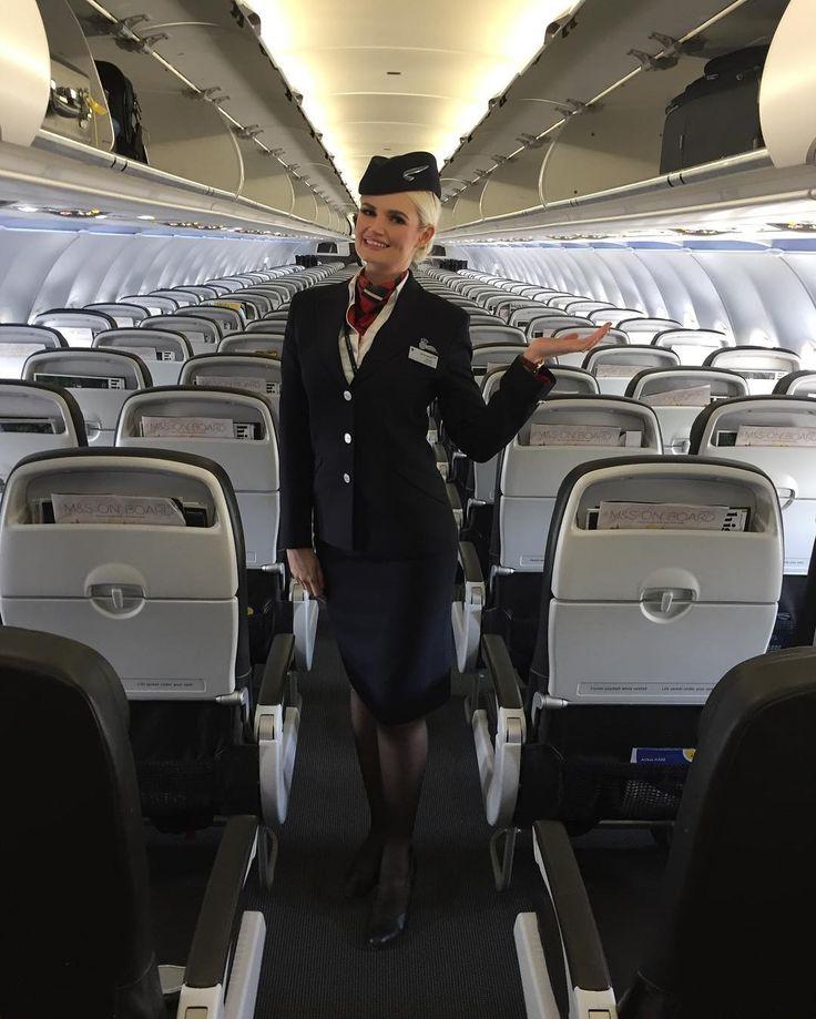стюардессу отели в самолете голая пизда